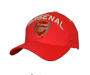 eb482378ee7 Arsenal Adjustable Cap Hat-Red 100% Cotton By Rhinox Soccer cap