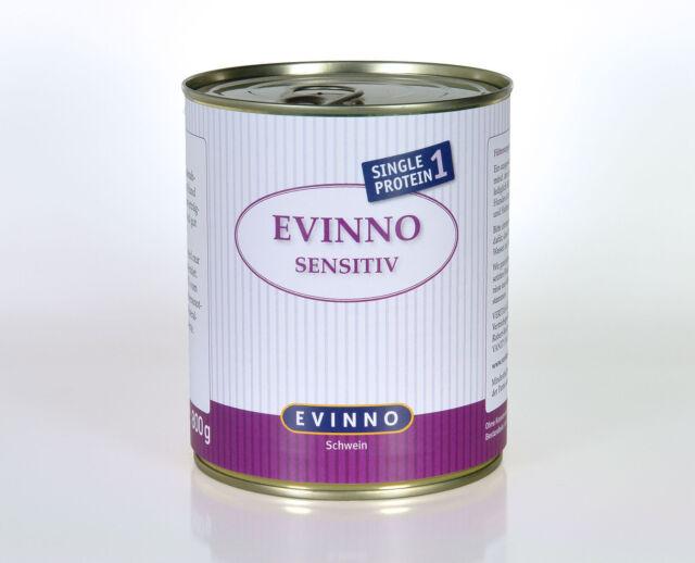 Sensitiv Schwein 36x 800g Schweinefleisch Schonkost EVINNO Hundefutter I B-Ware