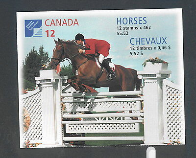 Canada 1999 Canadian Horses # 1798 A Booklet BK220 MNH
