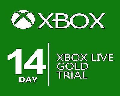Xbox Live 14 Day Gold Trial Membership | 14 Days 2 Weeks Xbox One Xbox 360 Code for sale  Cadott