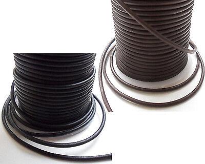 Lederband Lederschnur rund - Ø 1 / 1,5 / 2 / 2,5 / 3 / 4 / 5 mm - Matt-Farben