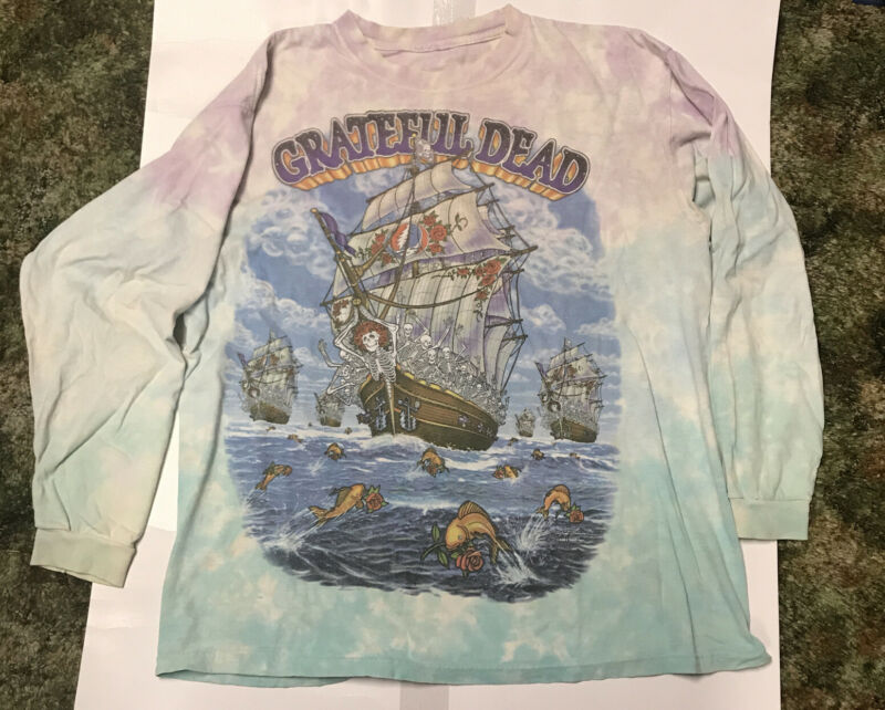 Grateful Dead Ship Of Fools Long Sleeve Shirt RARE Size Large 2001