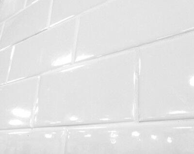 White 3x6 Shiny Glossy Finish Ceramic Subway Tile Backsplash Wall (Sample Order)