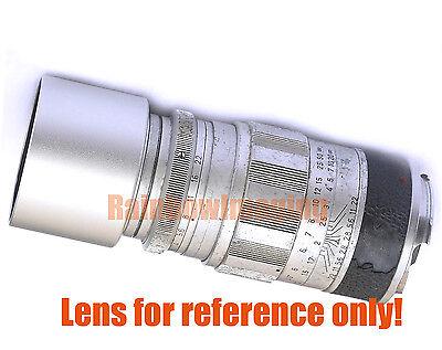 37mm Silver Metal Hood Leica Olympus Zeiss Nikon Canon Voigtländer Tele Lens