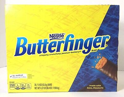 36 Pack Butterfinger Original Nestle Formula 1.9 Oz Bars Each Best By (Best Chocolate Peanut Butter Bars)