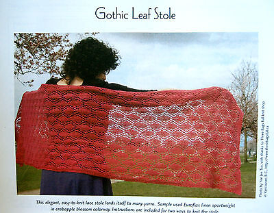 Gothic Leaf Lace Stole By Sivia Harding Knit Design Beautiful Design