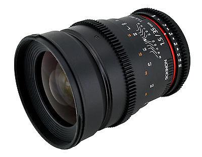 Rokinon 35mm T1.5 Cine Wide Angle Lens  w/ De-clicked Aperture For Canon