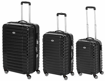 Hard Shell Suitcase with 4 Spinner Wheels in High Gloss Black or ...