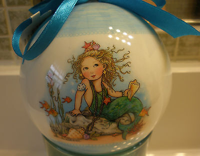 Mary Engelbreit Young Mermaid Holiday Christmas Ornaments Large Cape Shore New