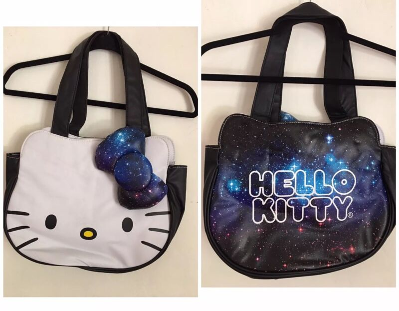 Hello Kitty Space Galaxy Tote Bag 2014 Loungefly Intergalatic Stars Geek Nerd HK