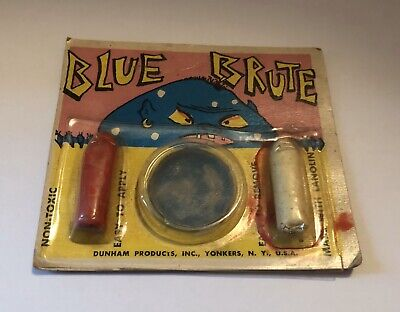 Halloween Makeup New York (VINTAGE HALLOWEEN MAKE-UP KIT BLUE BRUTE MONSTER DUNHAM PRODUCTS YONKERS NY)