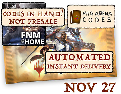 MAGIC MTGA MTG Arena Code FNM Home Promo Pack NOV NOVEMBER 27 INSTANT EMAIL!!!