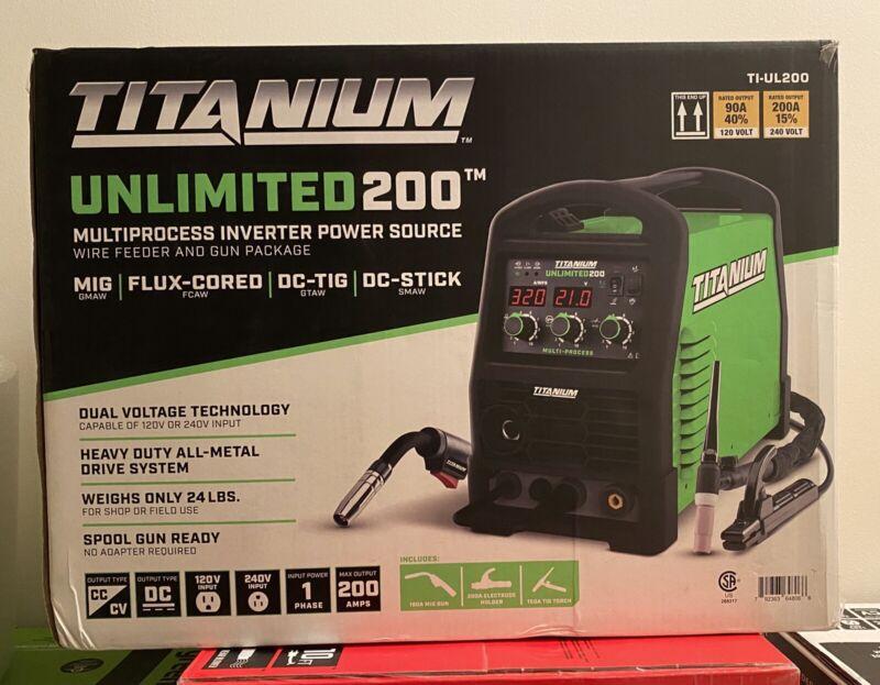 Titanium Unlimited 200 TI-UL200 Multiprocess Inverter Power Source SEALED!🔥🔥🔥