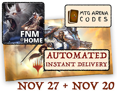 MAGIC MTGA MTG Arena Code FNM Home Promo Pack NOV NOVEMBER 27 20 INSTANT EMAIL!!