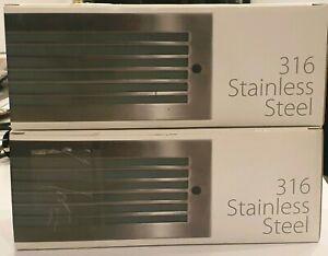 2x Havit LED IP44 Brick lights - stainless steel warm white