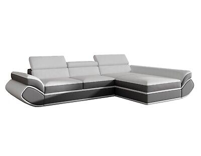 EQsalon IMPERIA Faux Leather Modern Contemporary Sleeper Sectional 126