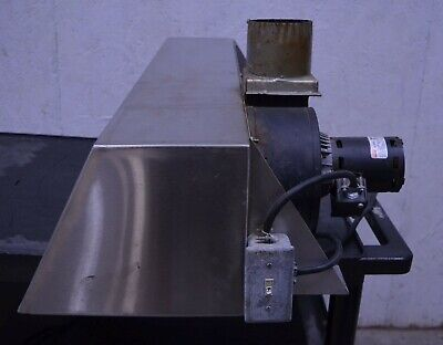 Nu-vu Ho-1 38 Prefabricated Steam Deflector Exhaust Hood 120v Restaurant Oven