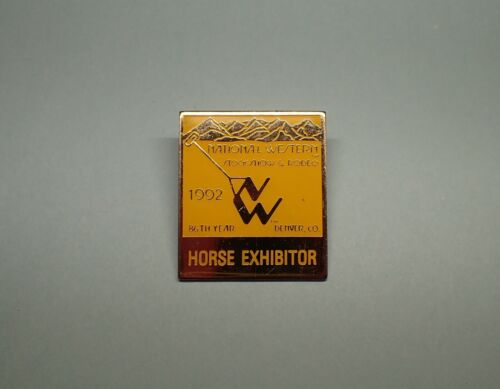 National Western Stock Show Horse Exhibitor lapel pin