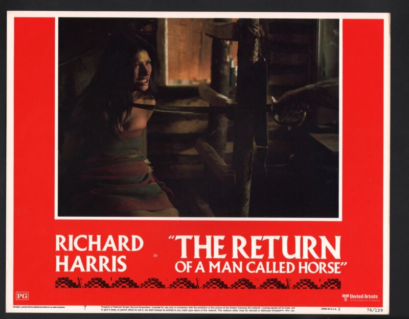 Return of a Man Called Horse Lobby Card-Claudio Brook tied up
