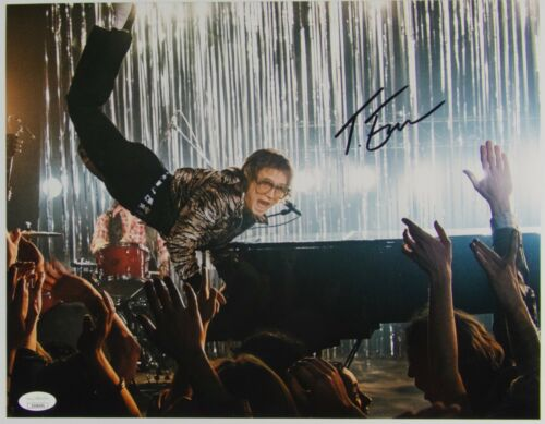 Taron Egerton Rocketman Elton John Autograph JSA 11 x 14 Signed Photo