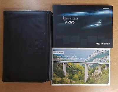 GENUINE HYUNDAI I40 OWNERS MANUAL HANDBOOK WALLET 2011-2016 REF E-860