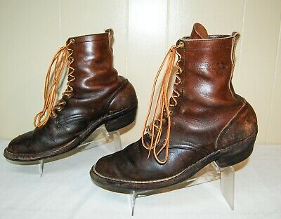 Hathorn White's Leather Logger Work Soft Toe Boots Brown Men's 9.5 EE