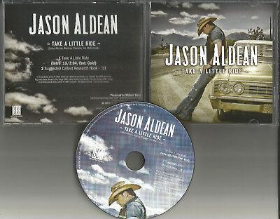 Jason Aldean Take A Little Ride Rare 2012 Usa Promo Radio Dj Cd Single Usa Mint