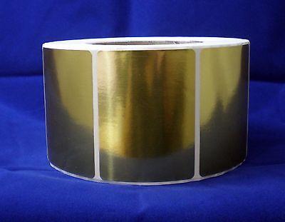 Bright Gold Metallic Foil Labels, 2.25