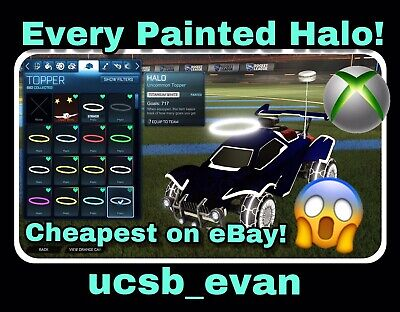 (XBOX ONE) Rocket League ALL PAINTED HALOS - CHEAPEST ON EBAY, FAST DELIVERY (Cheapest Paint)