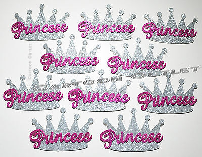 10 PC FOAM CROWN PARTY FAVORS RECUERDOS SILVER PINK PRINCESS CROWNS CORONA NINA