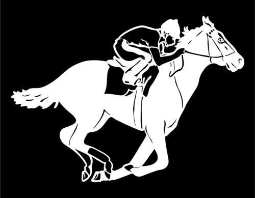 Race Horse Car Decal Jockey Thoroughbred Racing window trailer vinyl sticker