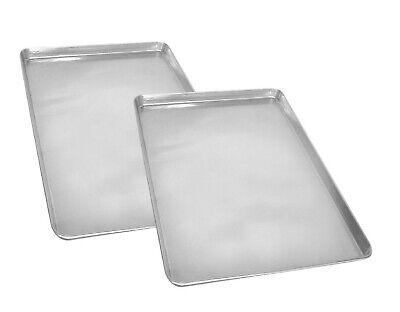 2 PK Half Size Aluminum Sheet Pan 18 X 13 Restaurant Quality Heavy Duty Aluminum - Half Size Aluminum Pan