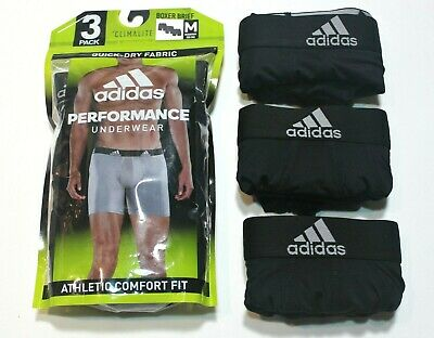 Men's adidas Climalite 3-Pack Boxer Briefs Black Performance Athletic - Climalite Pack