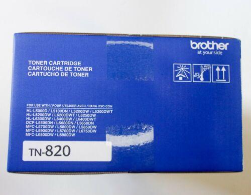 Brother TN820 Genuine Cartridge Black Toner