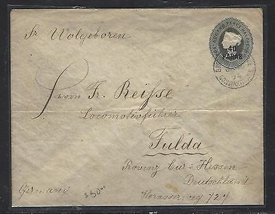 BRITISH LEVANT, TURKEY  (P1708B)  GB QV 1/2P PSE TO GERMANY 1894  #2