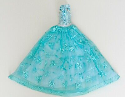 Tammy Doll Blue Lace Ball Dress Gown Outfit for 1/6 Dolls