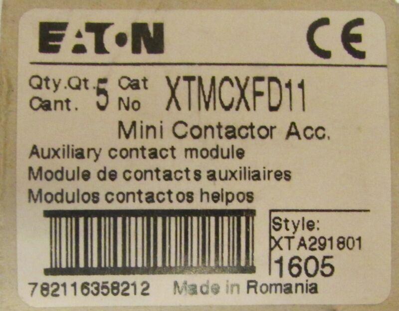 EATON XTMCXFD11 Mini Contactor Front Mount Auxiliary