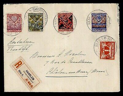 DR WHO 1928 NETHERLANDS HAARLEM REGISTERED TO FRANCE C242609