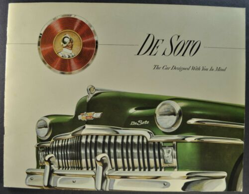 1949 DeSoto Lg Brochure Sedan Club Coupe Convertible Suburban Excellent Original