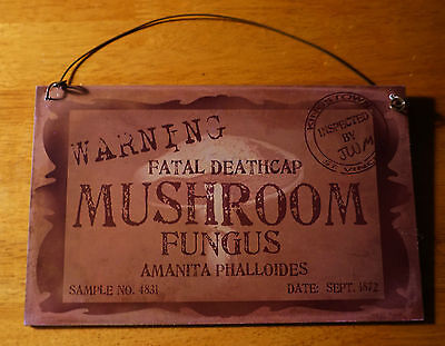 Mad Laboratory Halloween (Warning Mad Scientist Mushroom Laboratory Lab Prop Halloween Party Decor)