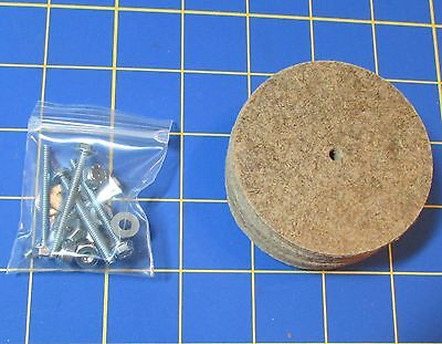 """For Jointed Teddy Bear = 10 – 2 1/2""""  Hardboard Discs – with Tap Bolt Set"""