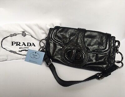 PRADA Vintage Black Handbag Clutch