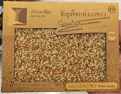 100g Cereals Bar White Sesame Snack Health Food Thailand Best Quality
