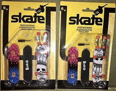 "4 NEW SKATE Finger Skateboards 4""Long w/Extra Wheels, Screws & Mini Screwdriver"