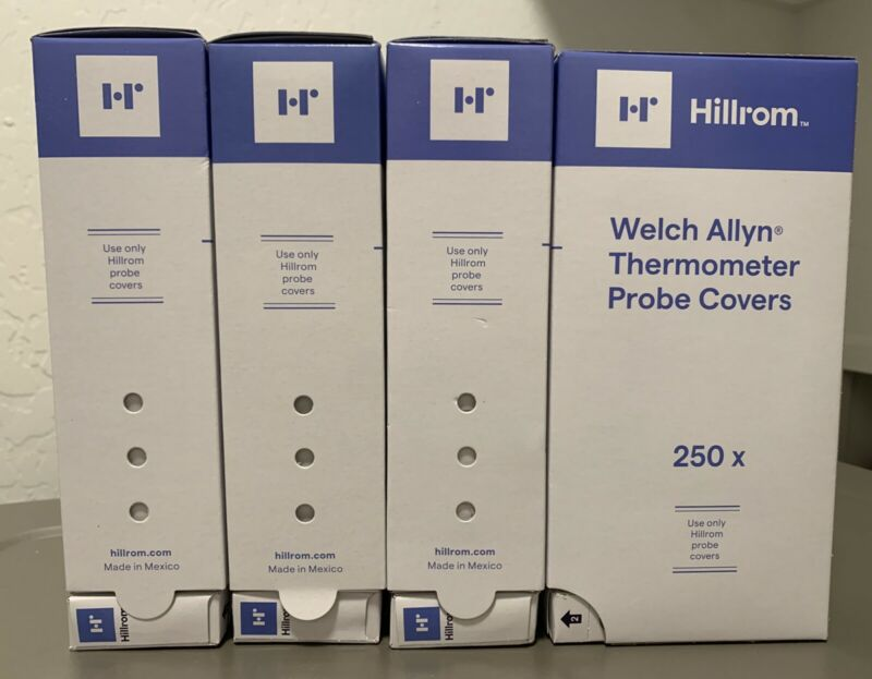 (4) WELCH ALLYN THERMOMETER PROBE COVERS 05031-750 - 1000PCS