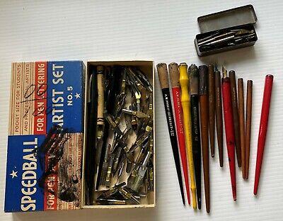 Vintage Dip Pens & Nibs  Esterbrook, Hunt, Speedball, E.G. Henry, Palmer Method