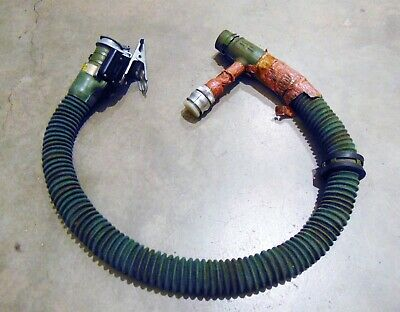 Navy Aircraft Cockpit Oxygen Mask Hose W/ Mask End Connector, Clip, Comm Cord
