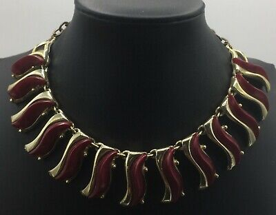 60s -70s Jewelry – Necklaces, Earrings, Rings, Bracelets Vintage Maroon Adjustable Necklace Mid Century 1950's 1960's $13.99 AT vintagedancer.com