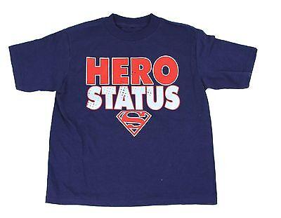 Superman Super Hero Superhero Status DC Comics Blue T-Shirt