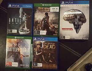 Xbox one and PS4 titles. Like New Blakeview Playford Area Preview